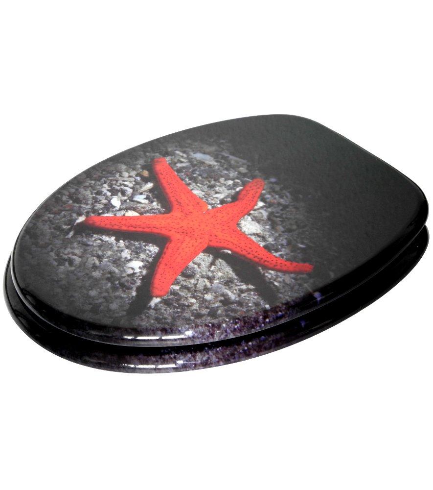 Grande s/élection de abattants wc noirs Abattant WC frein de chute soft close Finition de haute qualit/é Dewdrop