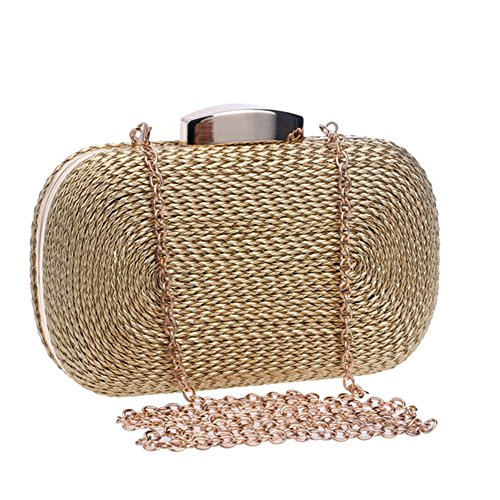 Shoulder Gold Women's Bag Clutches Evening Messenger Bag Clutches Evening wqC6OX