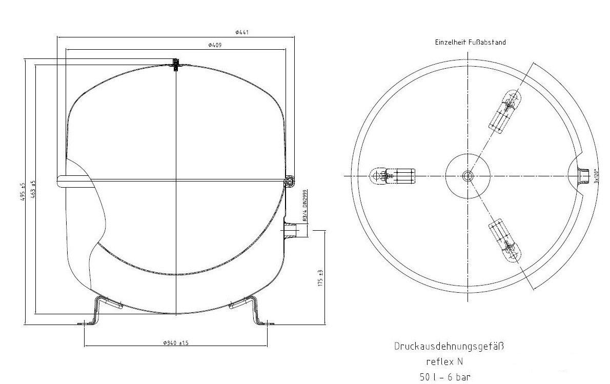 Membran-Ausdehnungsgef/ä/ß reflex N 18 Liter 3 bar