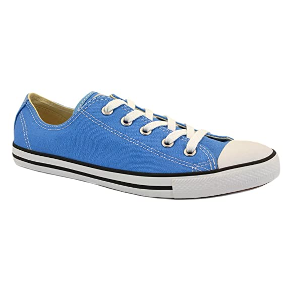 1f110f527e4f Image Unavailable. Image not available for. Colour  Converse Chuck Taylor  Dainty Ox 537077C Unisex Canvas Laced Trainers Blue - 8