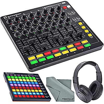 Novation Launch Control XL for Ableton Live & Novation Launchpad Ableton Live Controller Bundle with Headphones and Fibertique Cloth from Photo Savings