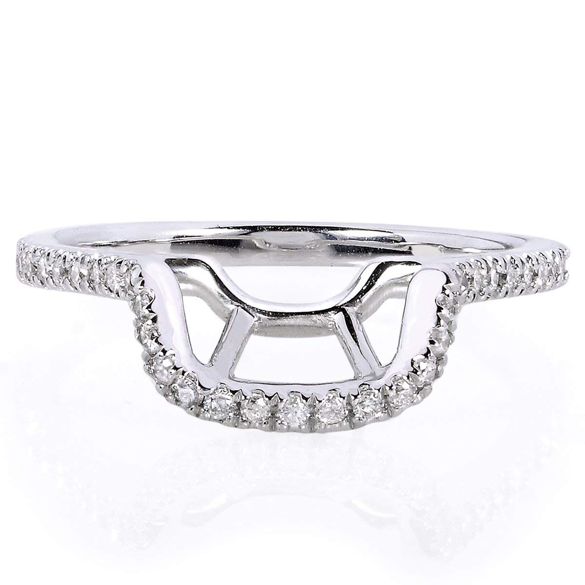 Round Diamond Contoured Wedding Band 1/5 CTW Platinum - Matches Kobelli 61766 Series, 9 by Kobelli