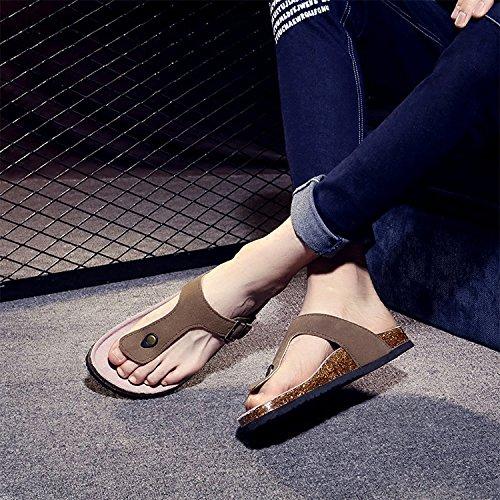 fankou Les Hommes sont au Frais en Été et Un Salon étudiant Pantoufles Chaussures de Plage pour Les Femmes des Couples Femme,43,H Brown