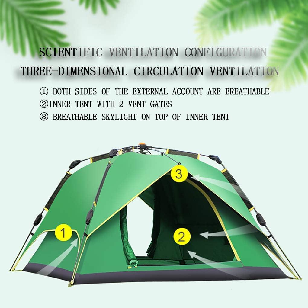 JF Carpas Desplegables para 3-4 Personas, Campamentos Al Aire Libre, Carpas De Tela Oxford, Carpas Portátiles, Protección Impermeable Y UV, con Bolsa De Transporte C