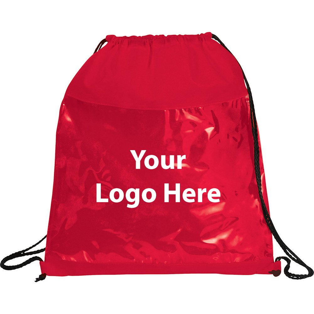 Clear Drawstring Sportspack - 150 Quantity - $2.45 Each - PROMOTIONAL PRODUCT / BULK / BRANDED with YOUR LOGO / CUSTOMIZED