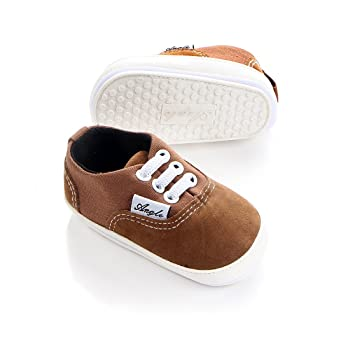 Baby Boys Girls Canvas Rubber Sole Non-slip Sneakers First Walkers Candy Shoes