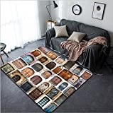 Vanfan Design Home Decorative 153452546 photo collage of old doors Gothic quarter in Barcelona Spain Modern Non-Slip Doormats Carpet for Living Dining Room Bedroom Hallway Office Easy Clean Footcloth