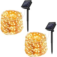 ECOWHO Solar String Lights Outdoor, Solar Powered Fairy Lights Waterproof Decorative Lighting for Patio Garden Yard Party Wedding Home Lawn Christmas