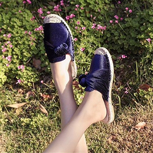 Pantoufles Bleu 37 Taille Bleu EU Baotou Yiwuhu Baotou 3 Sauvage Pantoufles Couleur été Pantoufles 1 H4qIwqf