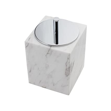 Genial MAYKKE Brax Canister With Lid | Modern Bathroom Container | Cotton Ball,  Cotton Swab,
