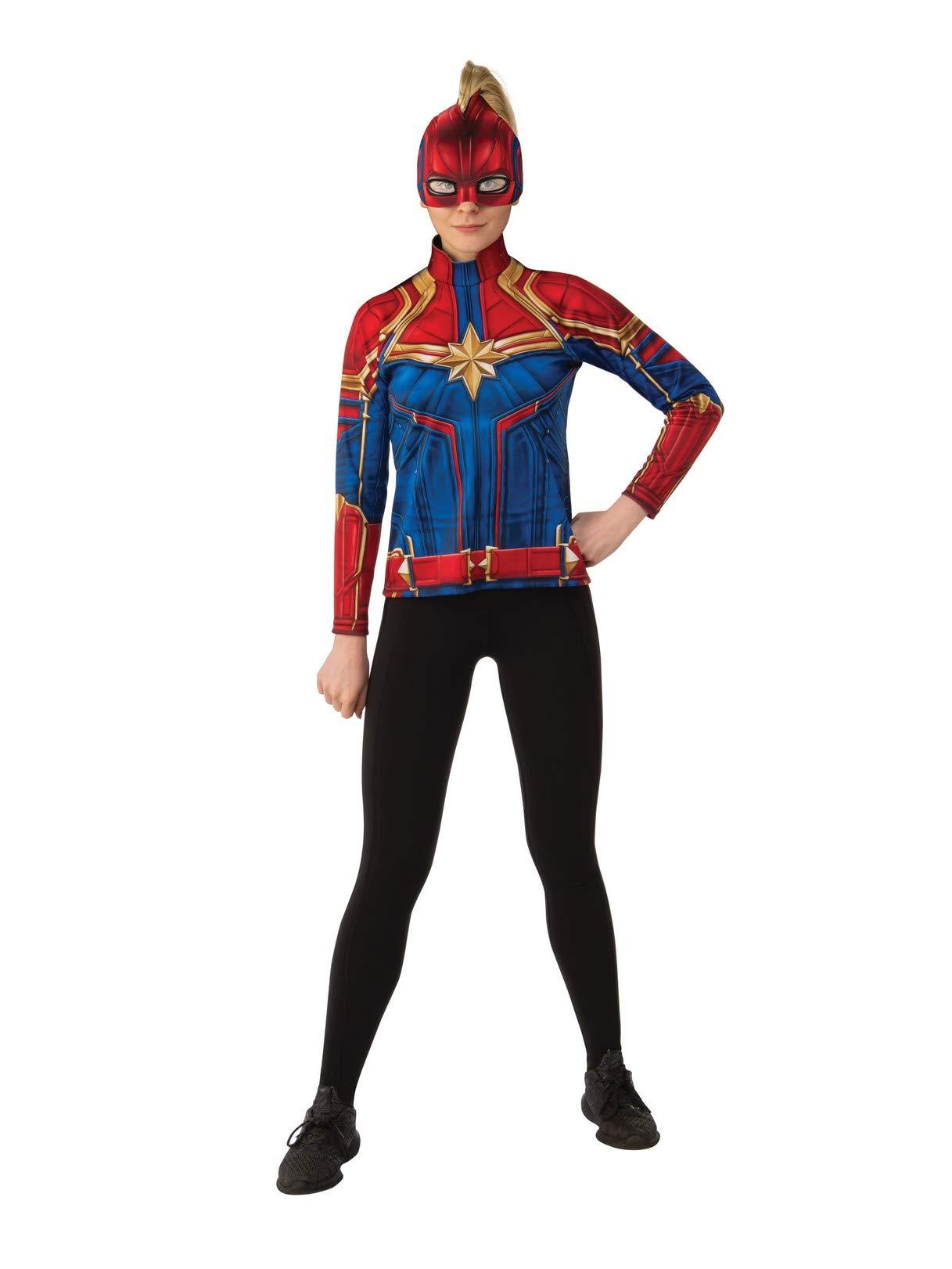 Rubie S Costume Co Women S Captain Marvel Hero Top And Headpiece Funtober Captain marvel female superhero costumes marvel and marvel dresses. funtober