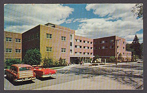 1957 Ford at Mary Hitchcock Memorial Hospital Hanover NH postcard 1950s