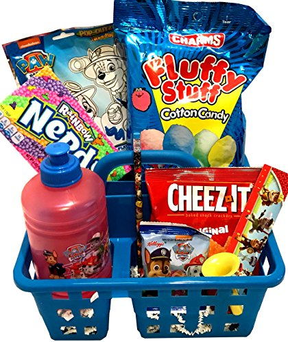 Toddler's - For Toddler - Young Child - Boy or Girl - Filled Valentines Gift Basket- Lots Of Fun for Celebrating Valentines, Easter, and Birthdays! (Paw Patrol - Chase, Marshall)