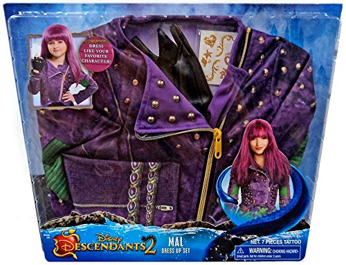 Disney Descendants 2 Mal Costume Dress up Set - Mr D Halloween Costume