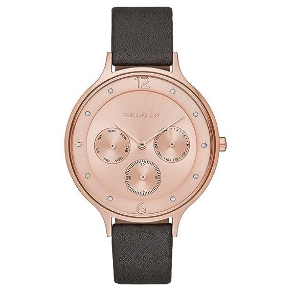 Skagen – Reloj de Cuarzo para Mujer con Oro Rosa Esfera analógica Pantalla y Pulsera de