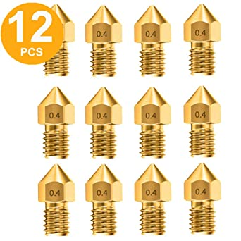 25pcs MK8 Extruder 3D Printer Nozzle Brass 0.4mm for Creality CR-10 MK8 Makerbot