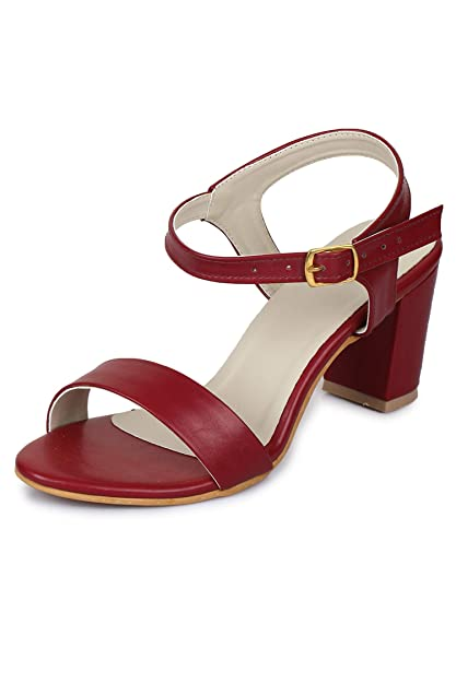 ff40a66f163 Funku Fashion Women Cherry Block Heel Sandals  Buy Online at Low Prices in  India - Amazon.in