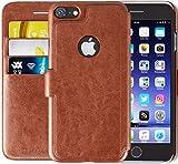 Lockwood iPhone 6s Plus / 6 Plus | Folio Wallet Card Case | Faux Leather | Vintage Brown | (5.5 Inch) | Ultra Slim & Light