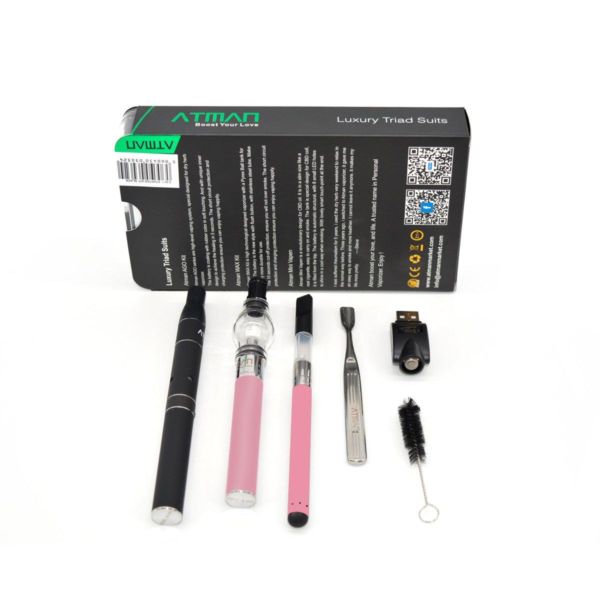 ATMAN® Lujo electronico vaporizador para Hierbas Secas y Cera y ...