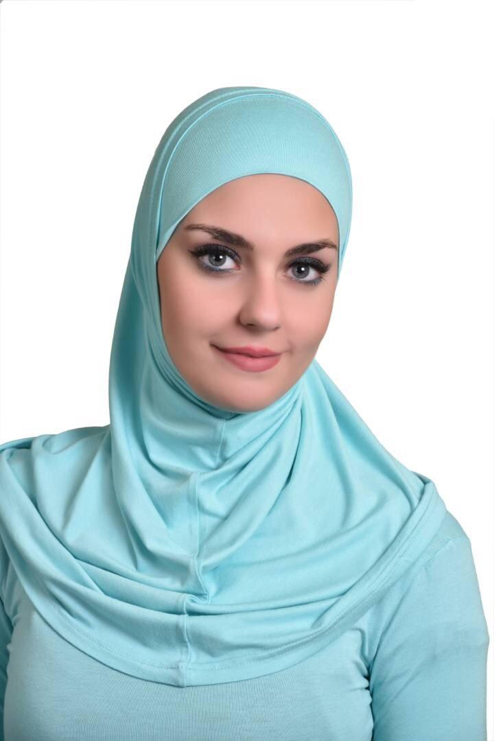 Teal Al Ameera Muslim Hijab Cotton Amira 2 piece Hood & Hijab Tube Underscarf Cap (Teal)