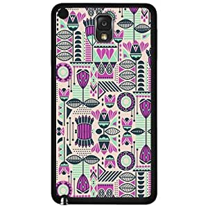 Pink, Creme, and Teal Aztec Pattern Hard Snap on Phone Case (Note 3 III)