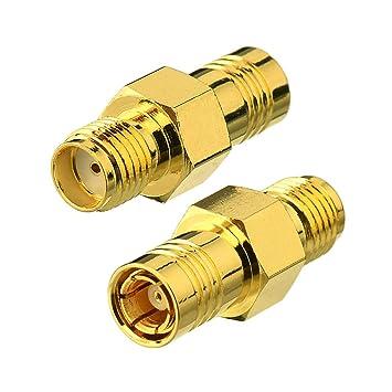 Bingfu DAB Autoradio Antenne Adapter SMB Stecker zu SMB Buchse Adapter 2 Stücke kompatibel mit DAB+/AM/FM Radio Jvc Pionner Kenwood Pure Antenna Kabel MEHRWEG Antennen & Zubehör