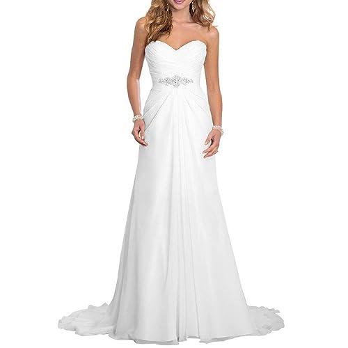 Solovedress Womens Elegant A Line Chiffon Bridal Wedding Dresses Evening Dress Gown