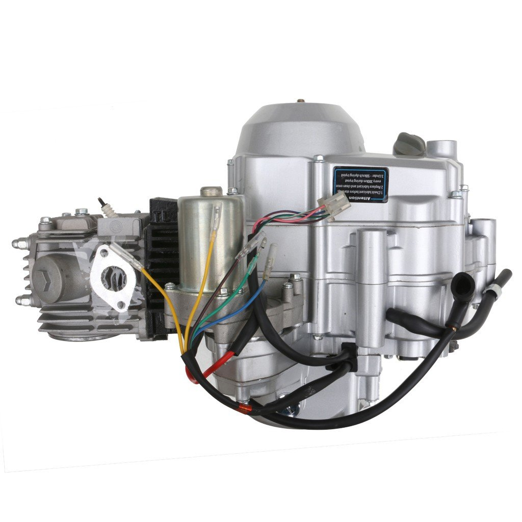 Amazon.com: TDPRO 125cc Engine 4 Stroke Motor Semi-Auto 3 Forward 1 Reverse  Gear for ATV 4 Wheelers Tricycle: Automotive