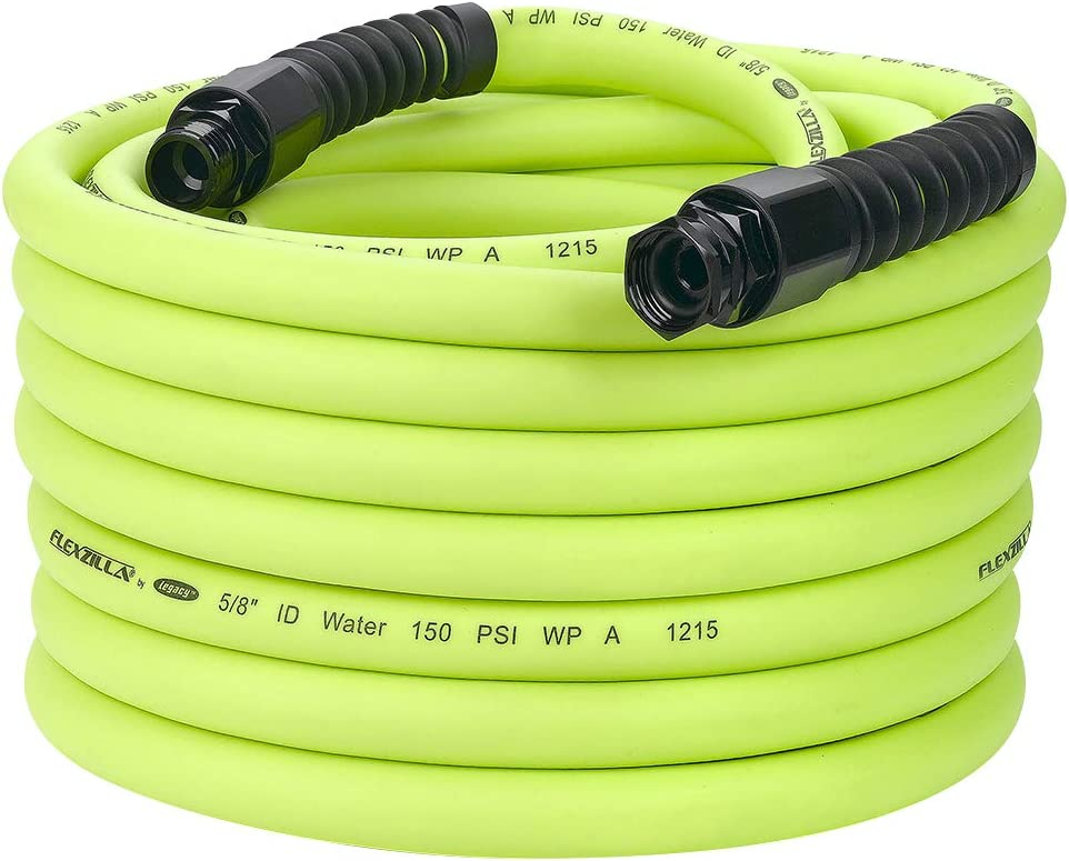Flexzilla Pro Water Hose with Reusable Fittings, 5/8 in. x 75 ft., Heavy Duty, Lightweight, Drinking Water Safe- HFZWP575