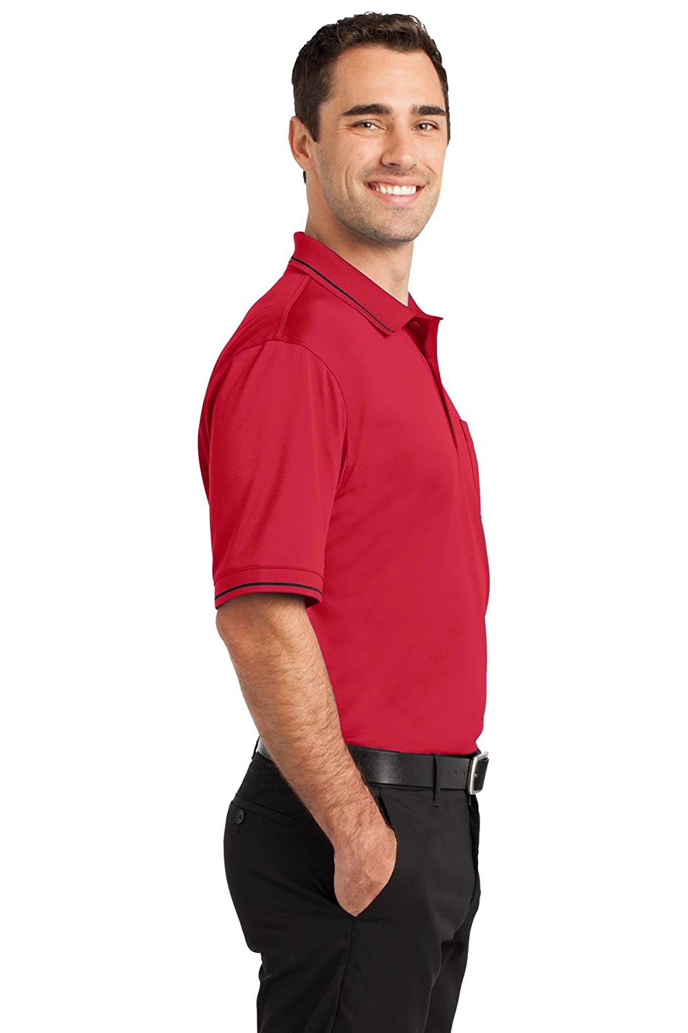 Cornerstone Mens Select Snag Proof Tipped Pocket Polo