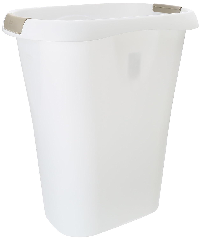 RUBBERMAID FG5L6000WHT Open Top Wastebasket