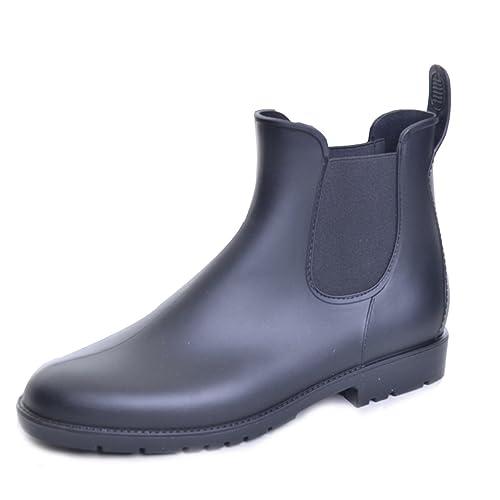Women Casual Elastic Side Panel Chealsea Rain Boots