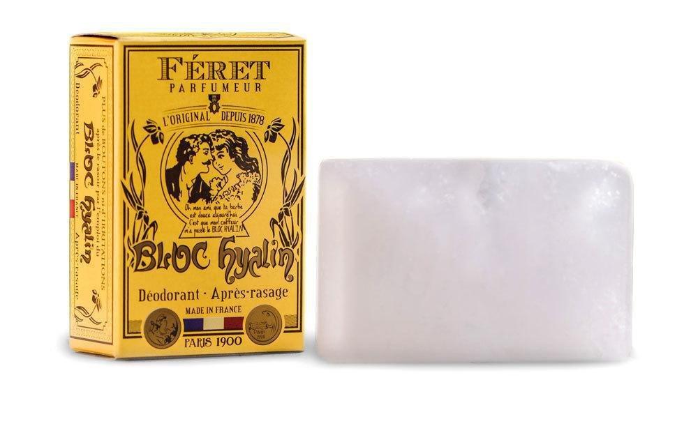 Féret Parfumeur - Bloc Hyalin - Deodorant & Aftershave Alum Block (100 g) by Féret Parfumeur
