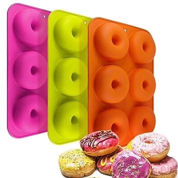 tebery 2 Pack Silicona Donut Formas Moldes Tarta Adecuado para geschirrspüler, horno, mikrowelle, frigorífico: Amazon.es: Hogar