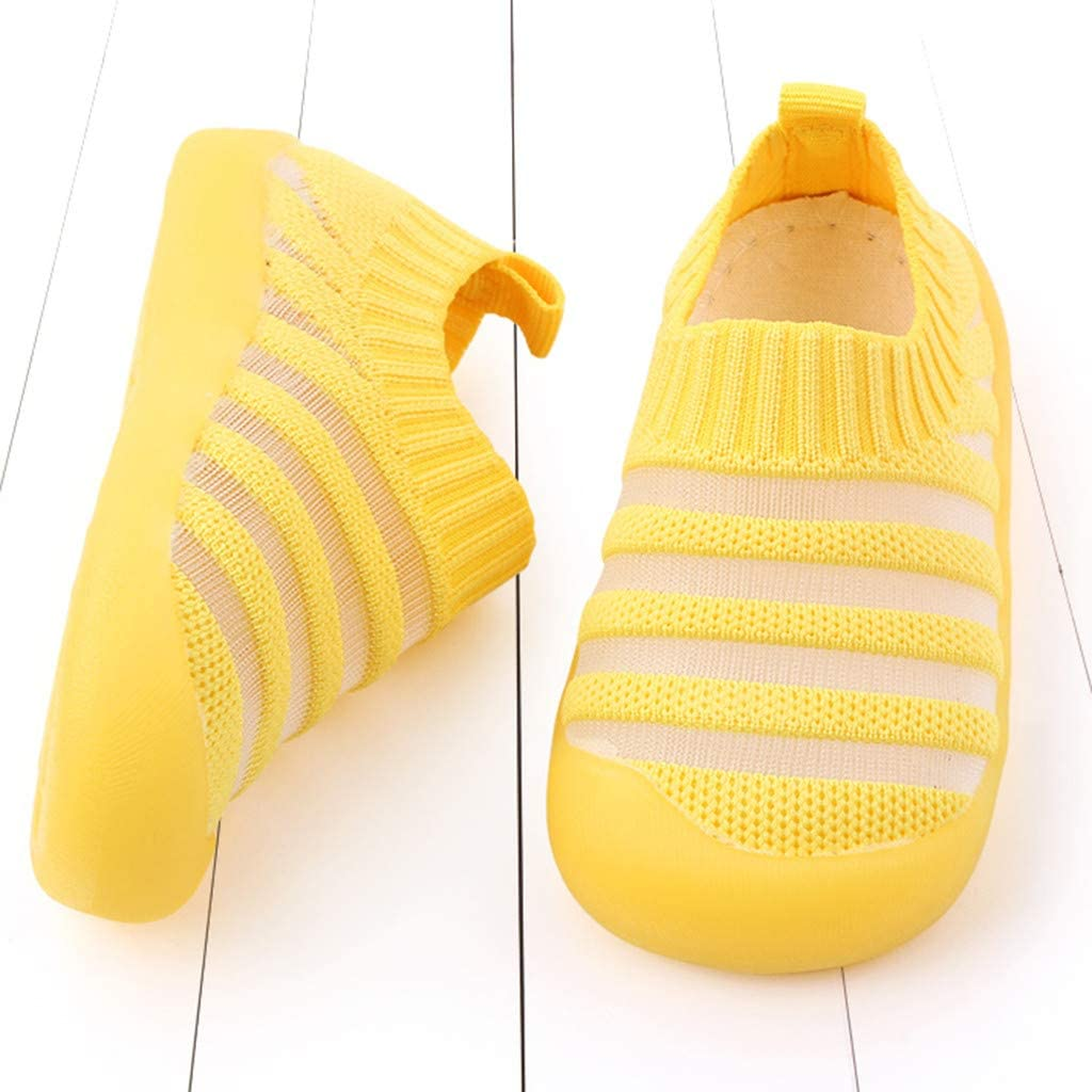Mousmile Baby Sock Shoes Breathable Cotton Non Slip Floor Socks Soft Rubber Sole Shoes Indoor Slipper for Boys Girls