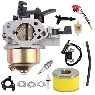 GX390 Carburetor Ignition Coil Air Filter Kit Replacement for Honda GX340 GX360 GX390 11HP 13HP Engine Generator Lawn Mower Motor Replaces 16100-ZF6-V01: Automotive