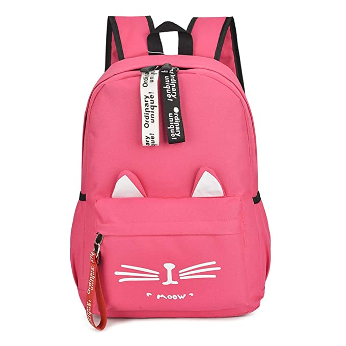 Amazon.com: Shaoge Cute Canvas Cat Print School Backpack Shoulder Book Bags Rucksack for Women Girls: Sports & Outdoors