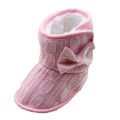 Minetom Chaussures Hiver Pour Bébé Tricoté Bowknot Mignon Et Doux Style  Semelle Souple Bottes: Amazon.fr: Vêtements et accessoires