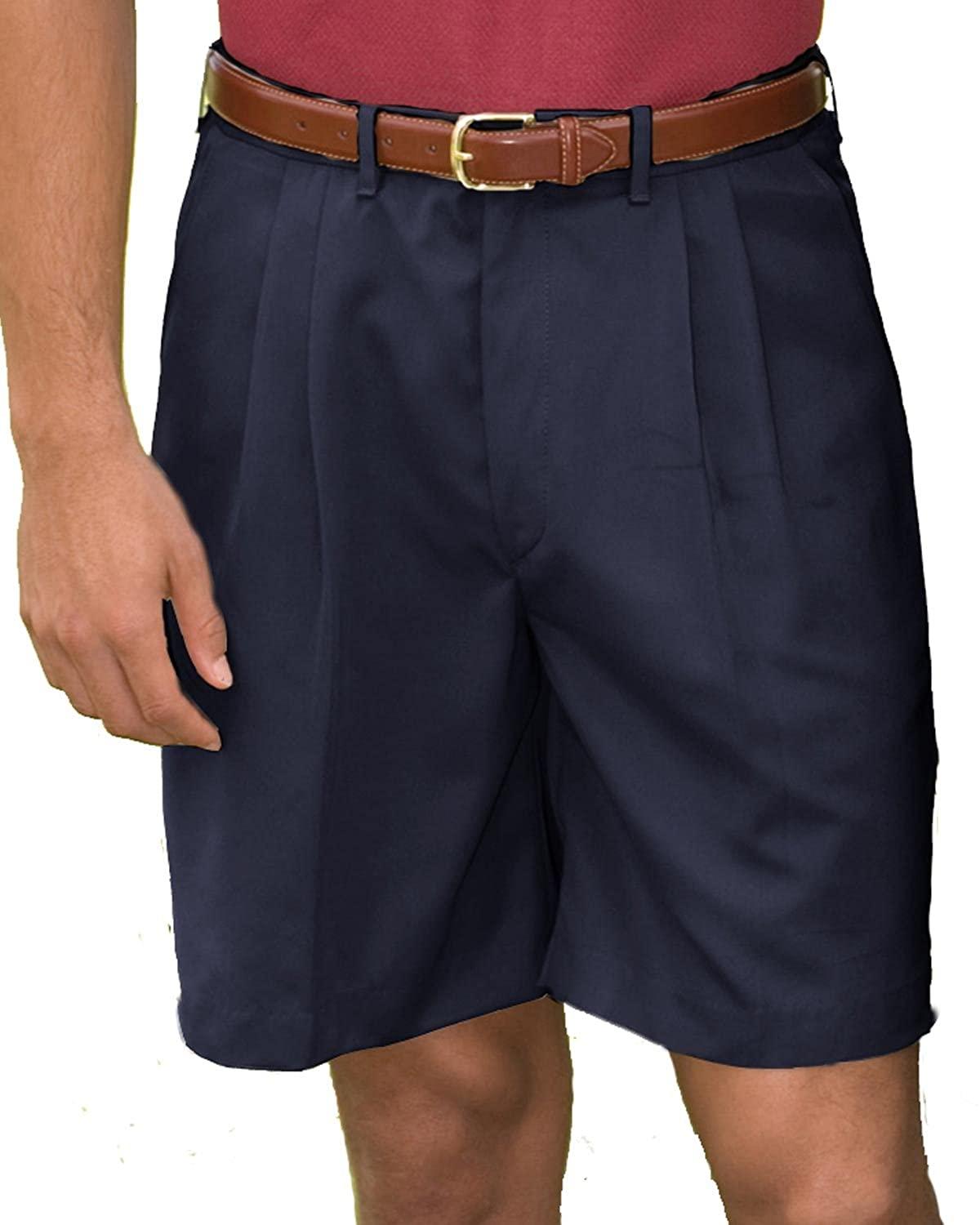 BLACK Ed Garments Mens Pleated Front Soft Touch Shorts 30