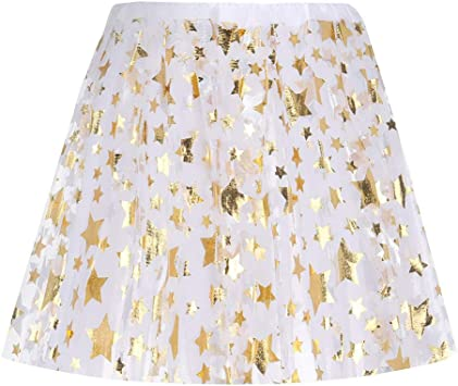 XNBZW Falda tutú de tul con capas de tul para fiesta blanco blanco ...
