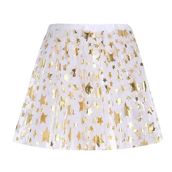 Gusspower Falda de tutú de Mujeres Malla Mini Faldas Corta 3 Capas ...