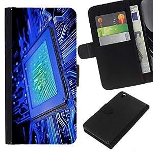 """Be-Star la tarjeta de Cr¨¦dito Slots PU Funda de cuero Monedero caso cubierta de piel Para HTC DESIRE 816 ( C¨®digo Chip Azul Tecnolog¨ªa Es"""" )"""