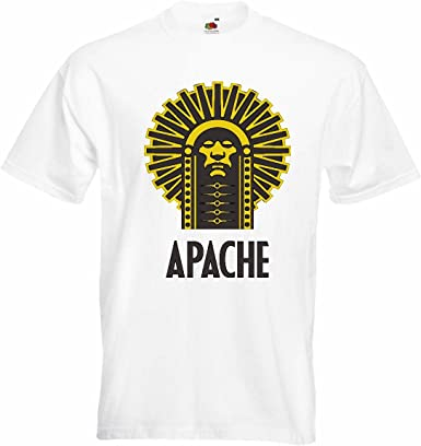 T-Shirt Camiseta Remera Indian Jefe Apache Indio Cara Tribu India Indio joyería de Vuelo rasante India en Blanco: Amazon.es: Ropa y accesorios