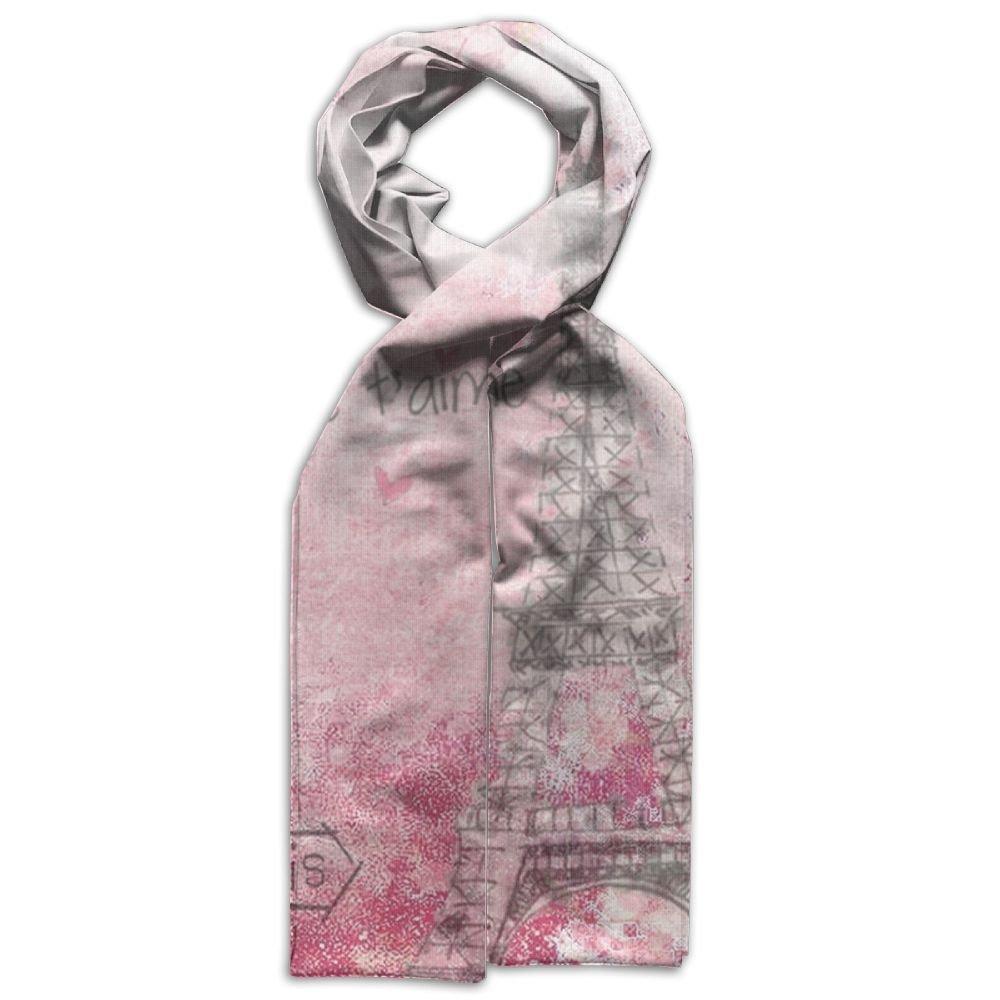 DGYEG44 Paris Printing Scarf Kids Warm Soft Fashion Scarf Shawl For Autumn Winter