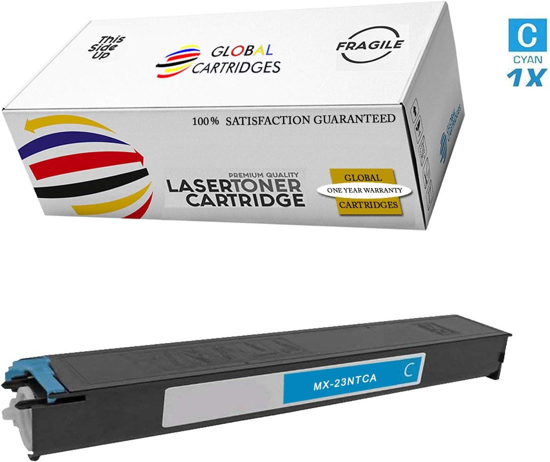 Global Cartridges Compatible Toner Cartridge Set for Sharp MX-2010U MX-2310F MX-2310U MX-2318UC//MX-23NTBA MX-23NTCA MX-23NTYA MX-23NTMA Black,Cyan,Yellow,Magenta