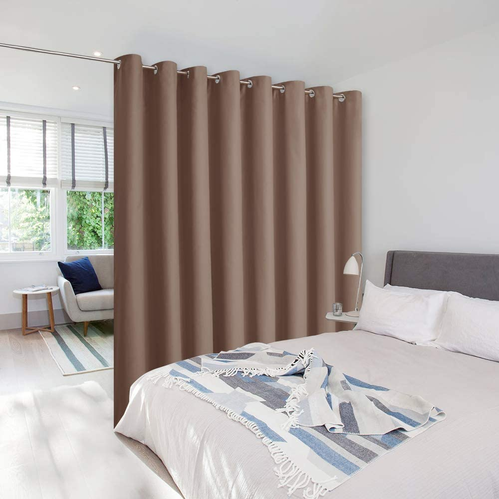 Amazon Com Nicetown Room Dividers Blind Screens Partitions Home Decor Room Screen Dividers For Shared Space Suit For Office Loft Dorm Hotel 1 Pcs 9 Tall X 15 Wide Cappuccino