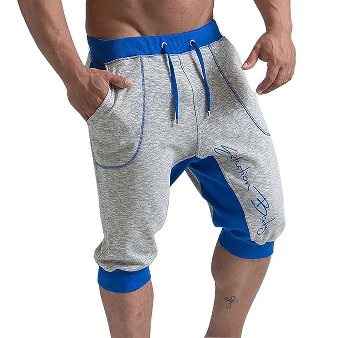 Yying Hombre Pantalones Cortos Deportivos - Bermudas Pantalones Cortos con cordón Moda Cintura Elástica Pantalón de