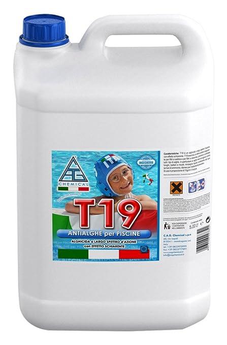 15 opinioni per C.A.G Chemical 19T0050 T19 Antialghe Liquido a Basso Potere Schiumogeno