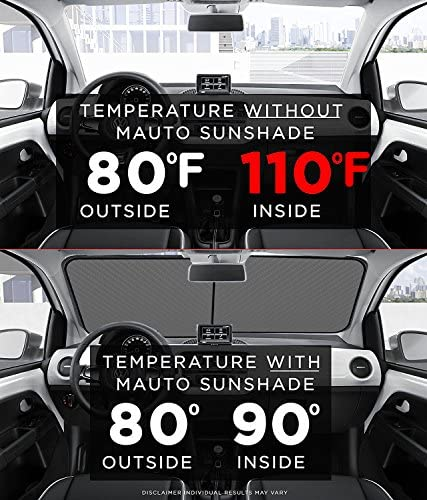 "2 Piece Universal Car Sun Shade for Windshield Keep Vehicle Cool Foldable Sunshade for Maximum UV and Sun protection Each Panel 29/"" x 31/"" Hippo Car Sun Shade Windshield Sunshade"
