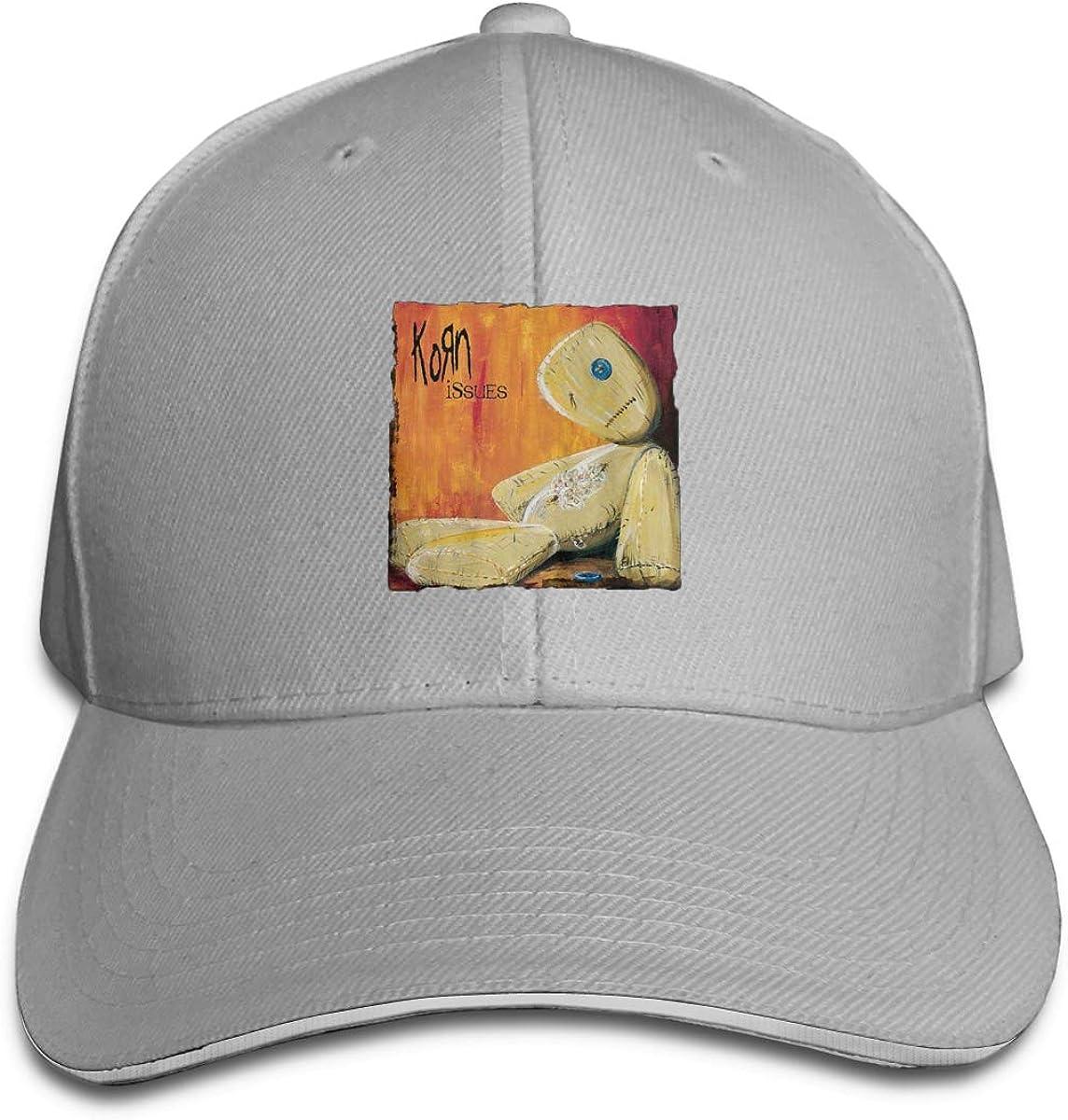 NCEUANCE Korn-Issues Caps Sports Trucker Caps Pattern Strapback Hat for Men//Women